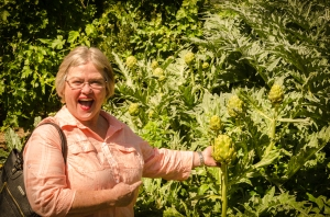 Charlene discovers growing artichokes!