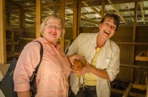 Charlene loves the chickens!