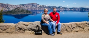 Ed and Charlene loved Crater Lake.