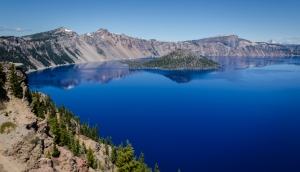"You can see in this photo why the ""Crater Lake Blue"" is now Charlene's favorite shade of blue."