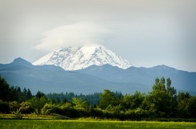 Mount Rainier is spectacular, but often hidden by clouds.