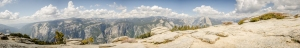 Panorama composite photo from the top of Sentinel Dome.