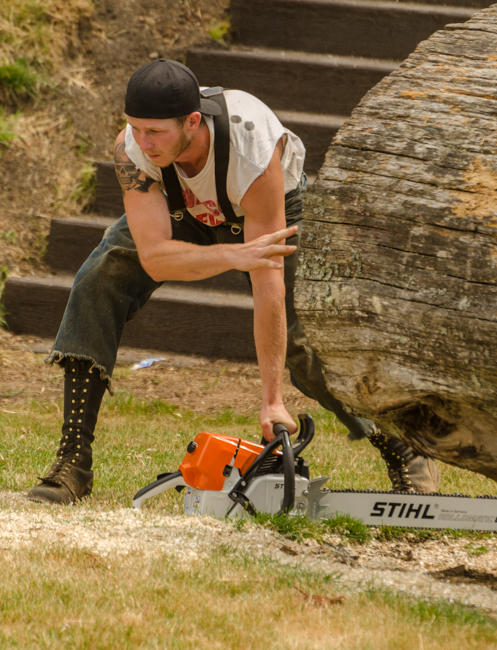 Ready, set, go and run with a chain saw?? Yup, that is part of the competition.