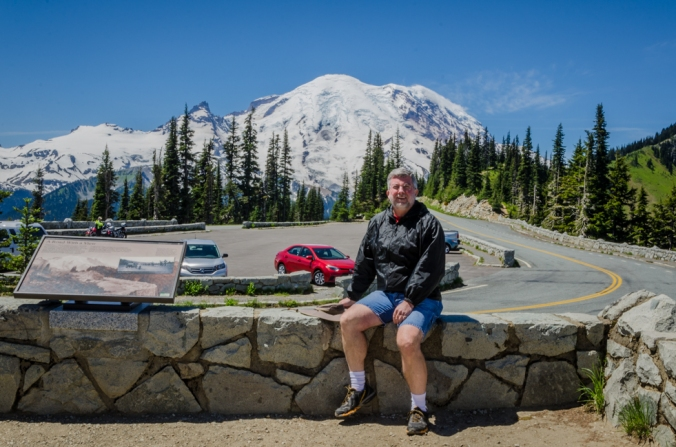 Ed enjoying the view of Mount Rainier.