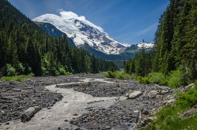 The White River flowing from Mount Rainier.