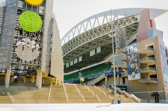 The stadium where the Seattle Seahawks play.