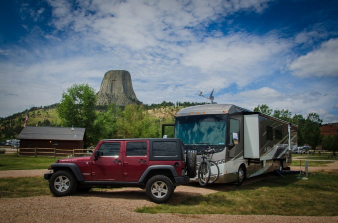 The campsite I was assigned had one of the best views of Devils Tower!