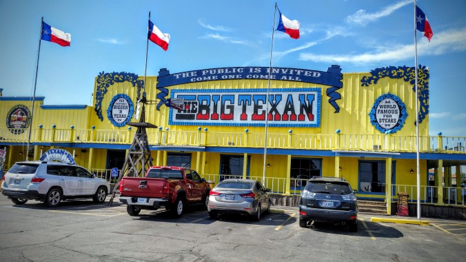 The Big Texan is extremely famous. People from around the world eat here.