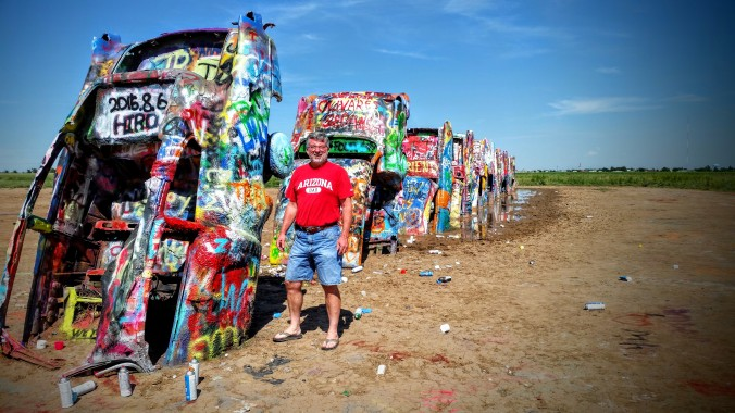 Cadillac Ranch is a famous tourist site in Amarillo.