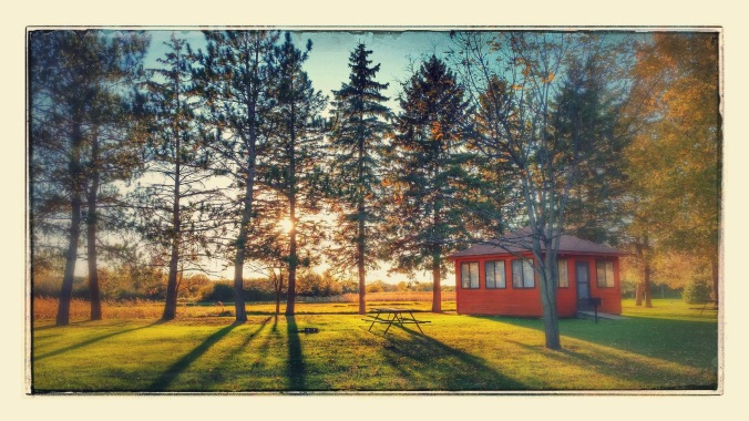 This was a beautiful scene of the campground in St. Cloud.