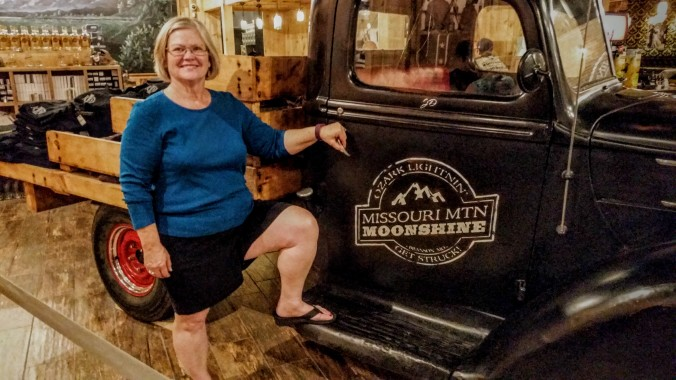 Charlene enjoyed the moonshine truck!