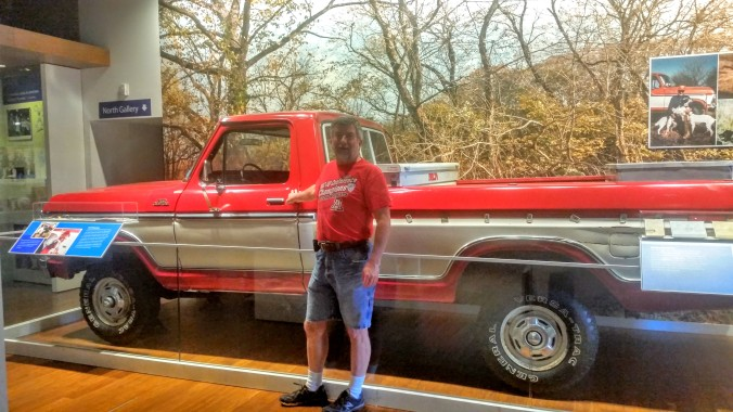 Sam Walton's old truck he used to drive.