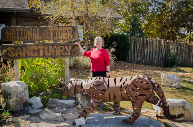 The National Tiger Sanctuary was an impressive place to visit during feeding time!