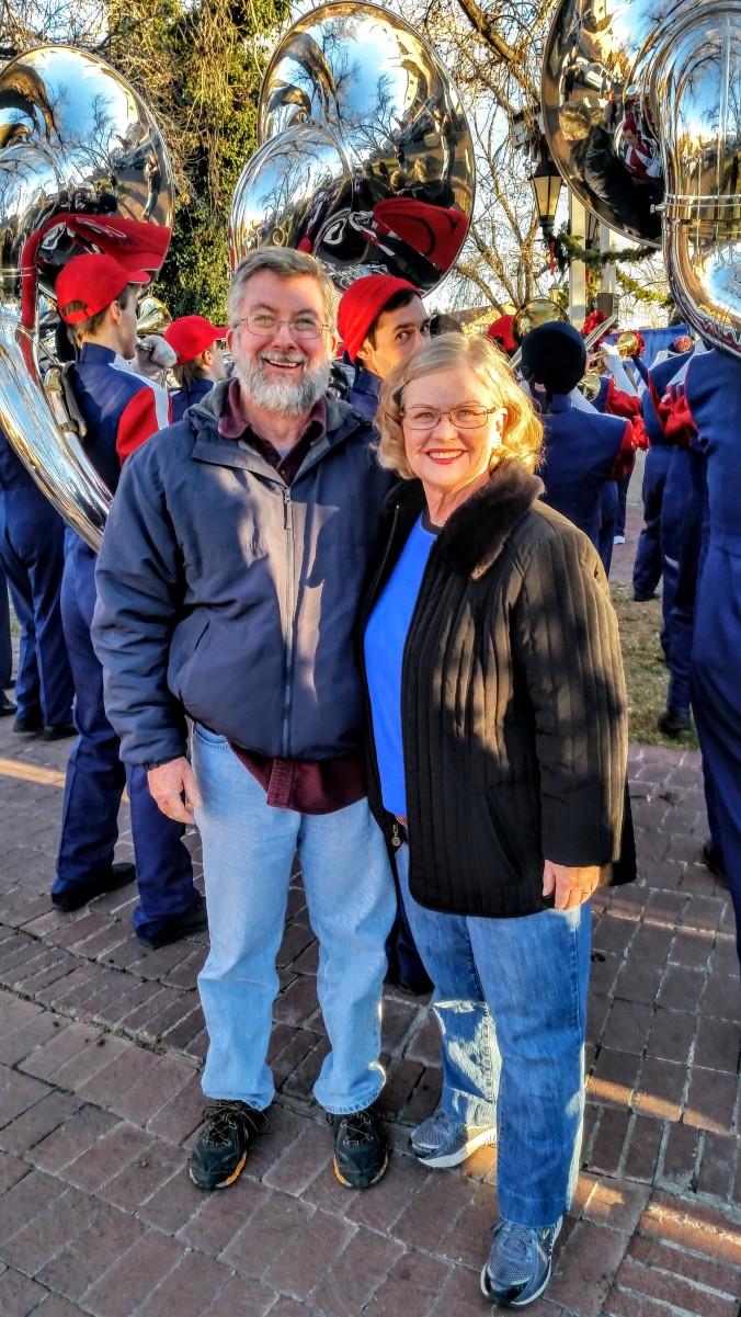 Charlene & Ed pep rally